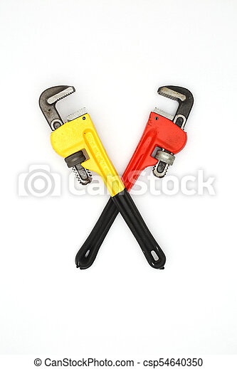 two crossed wrenches - csp54640350  sc 1 st  Can Stock Photo & Two crossed wrenches over white.