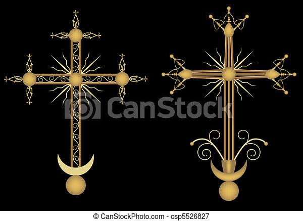 Two crosses - csp5526827