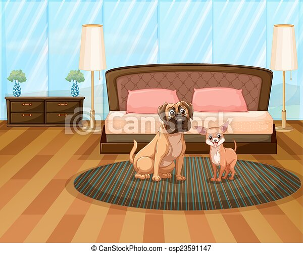 two dogs - csp23591147