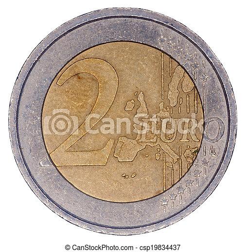 Two euro coin - csp19834437