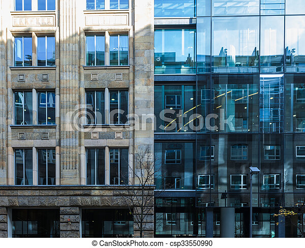 Two exterior facades of commercial buildings