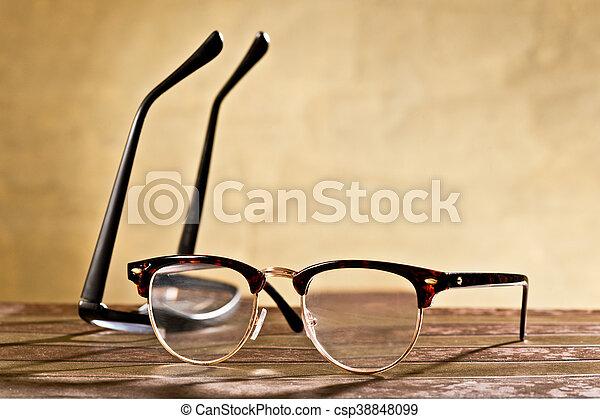 two eyeglasses - csp38848099