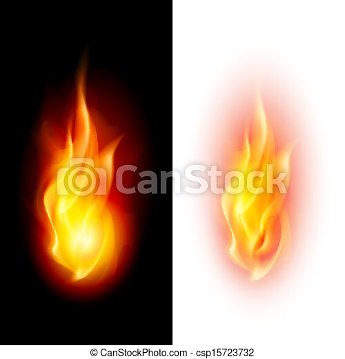 Two fire flames. - csp15723732