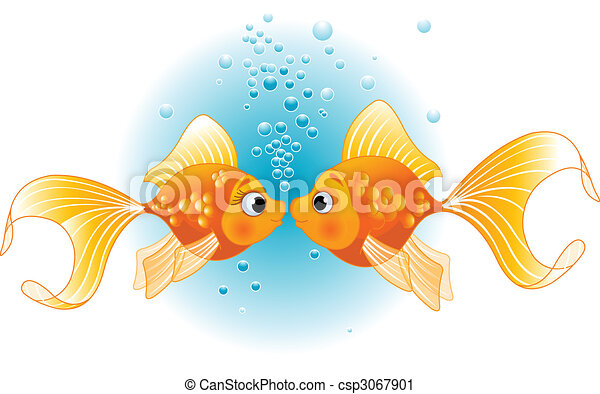 Two Fishes in love - csp3067901