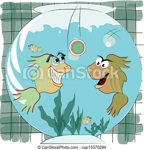 two fishes playing - csp15370294