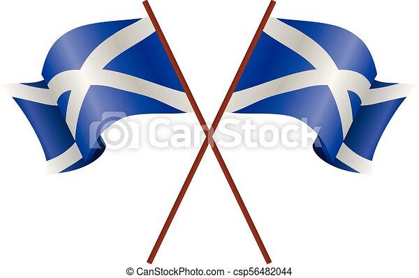 Two flag of Scotland - csp56482044