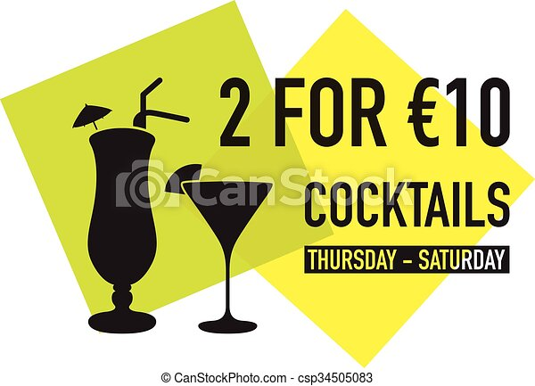 two for ten euro deal - csp34505083