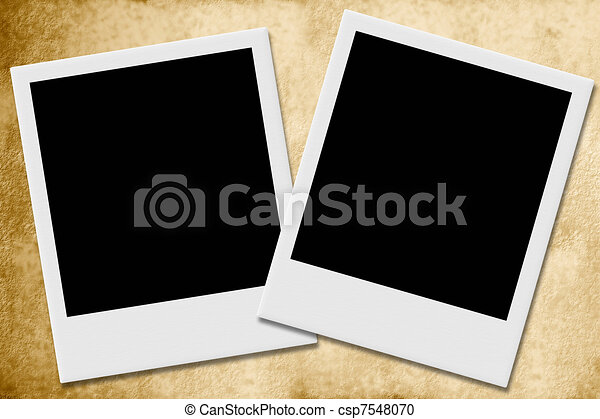 Two Frames Of Snapshots Two Empty Snapshots Sepia Background