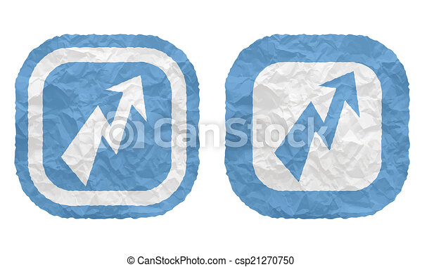 two frames with texture crumpled paper and flash - csp21270750