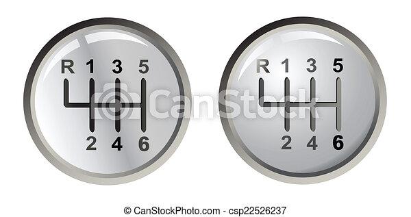 Two gear silver sticks , vector - csp22526237