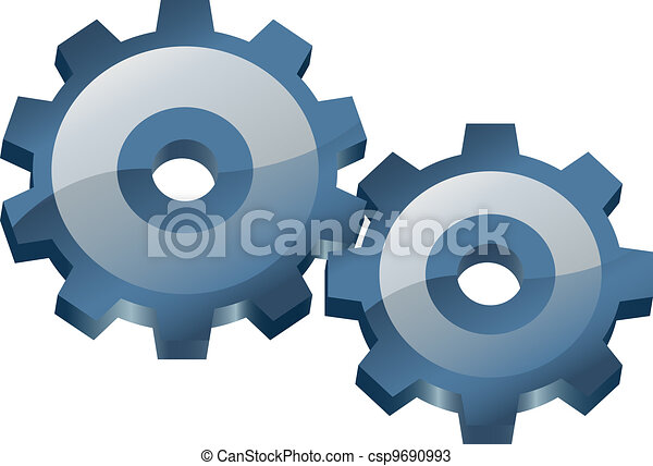 Two gears.  - csp9690993