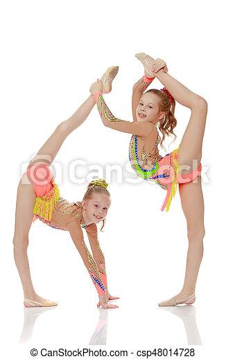 Young teen girl gymnastics