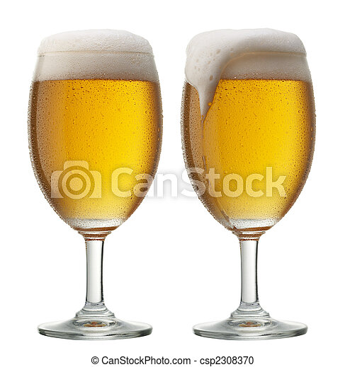 two glasses of beer - csp2308370