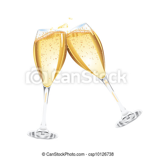 Two glasses of champagne - csp10126738