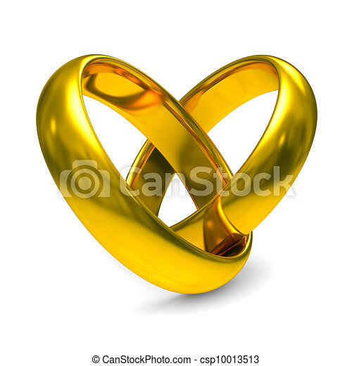 Two gold wedding rings isolated 3d image clipart Search