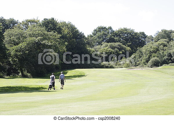 two golf players - csp2008240
