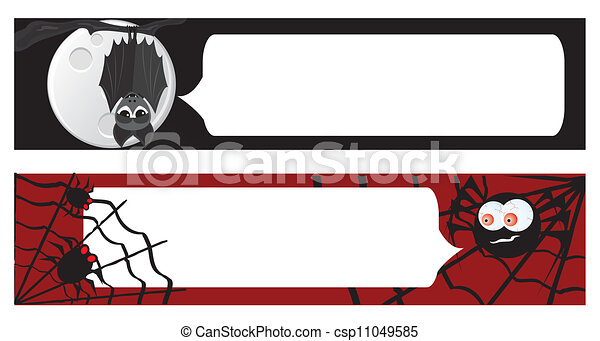 Two halloween banners for your design - csp11049585