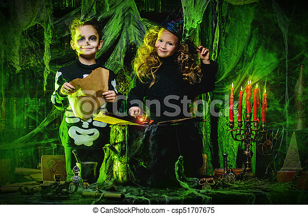 Kids Girl Children Halloween Party Green Fairy Witches Witchery Costume Dress