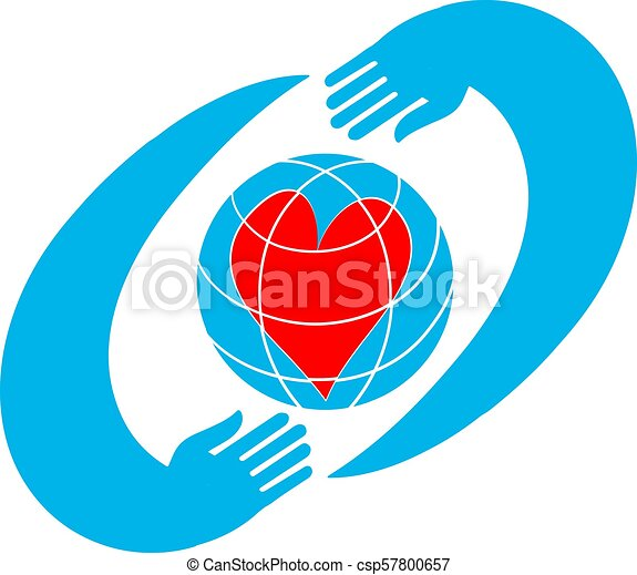 Two hands holding planet earth Environmental icon vector. - csp57800657