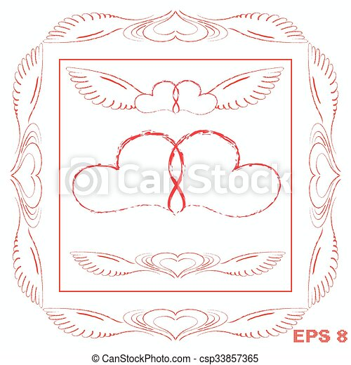 Two Hearts A Symbol Of Endless Love On Valentines Day Vector