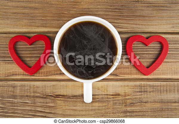 two hearts and coffee - csp29866068