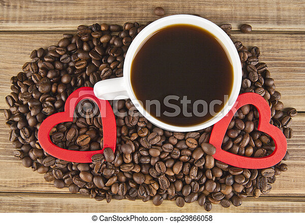 two hearts and coffee - csp29866058