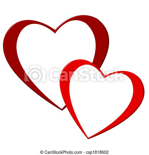 two hearts clip art search illustration drawings and eps vector rh canstockphoto com two hearts clipart two hearts clip art