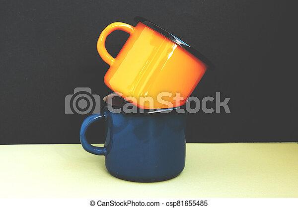 Two iron mugs - csp81655485