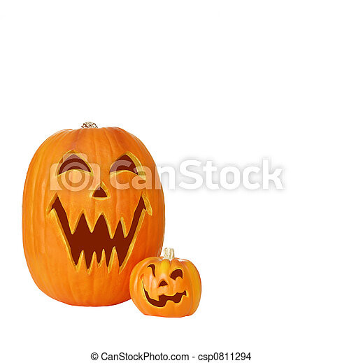 Two Jack O Lantern Pumpkins - csp0811294