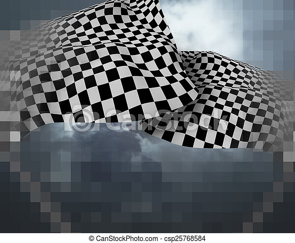 Two large Checkered Flag - csp25768584