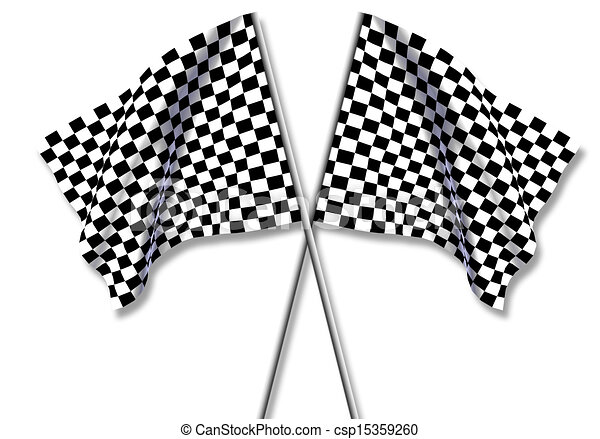 Two large Checkered Flag - csp15359260