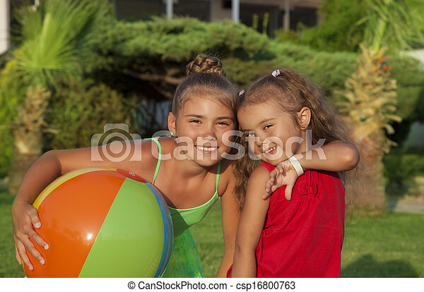 Two little girls - csp16800763
