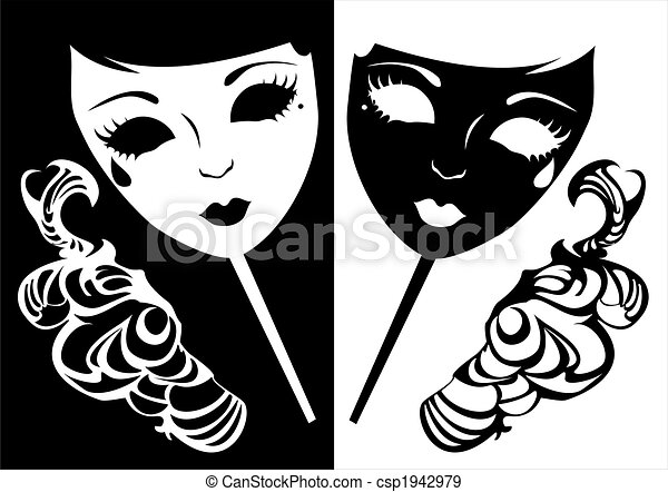 two masks for a masquerade vector illustration of two masks for a rh canstockphoto com clipart masquerade ball masquerade clipart