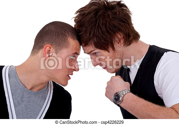 two men fighting - csp4226229