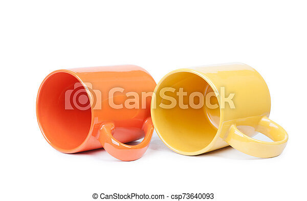 Two mugs isolated - csp73640093