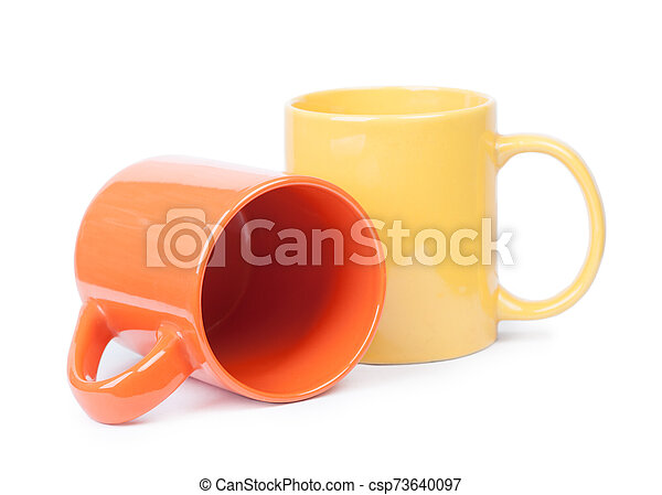 Two mugs isolated - csp73640097
