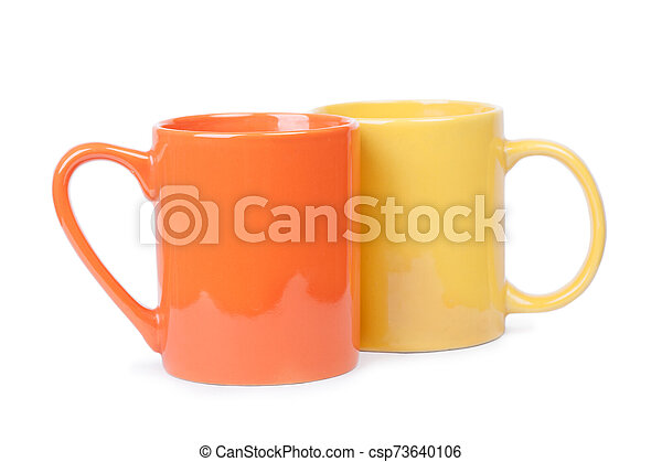 Two mugs isolated - csp73640106