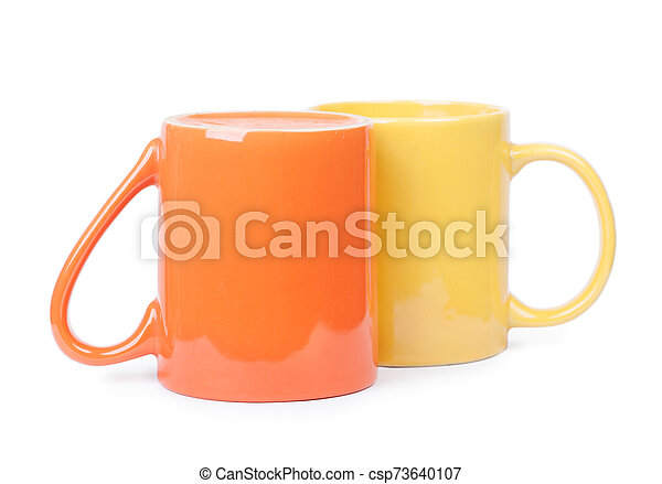 Two mugs isolated - csp73640107