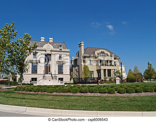 Two New Huge Historical Style Homes - csp6006543