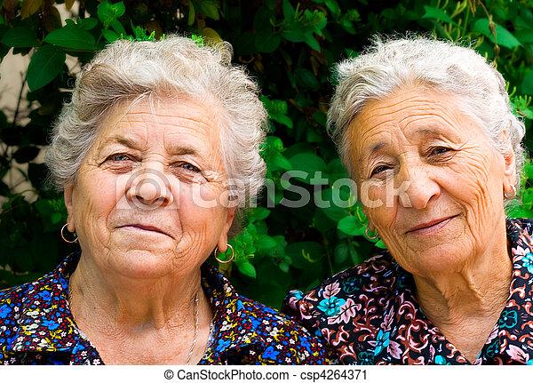 Two old ladies - csp4264371