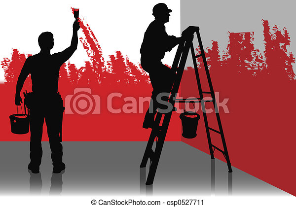 Two Painters Stock Illustration