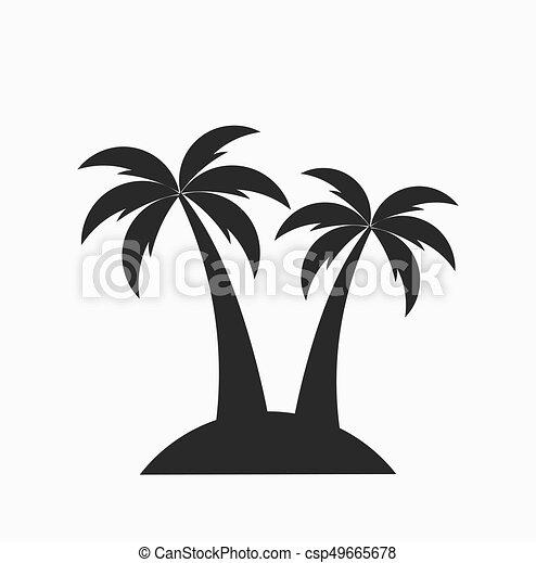 two palm trees on island vector illustration vectors illustration rh canstockphoto com island veterinary centre stone island victoria hislop