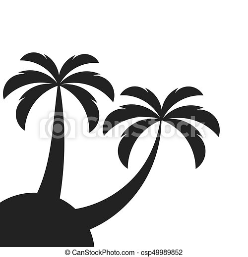 two palm trees on island vector illustration clipart vector rh canstockphoto com palm vector kayak palm vector xp50