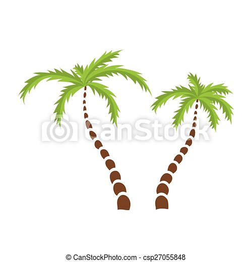 two palm trees vector two palm trees isolated vector illustration