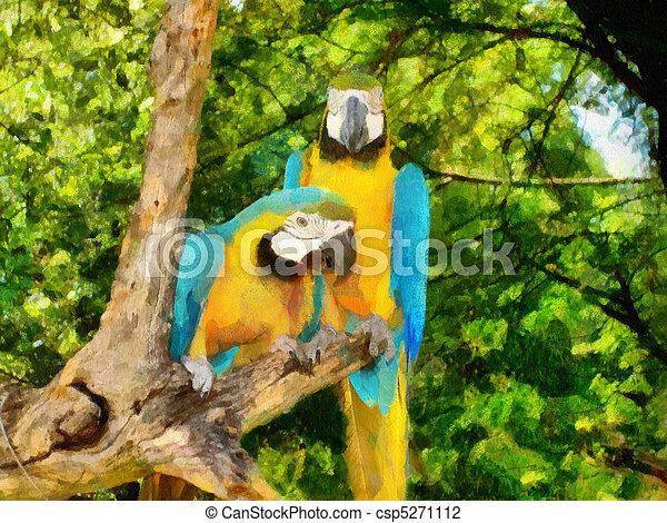 Two Parrots - csp5271112