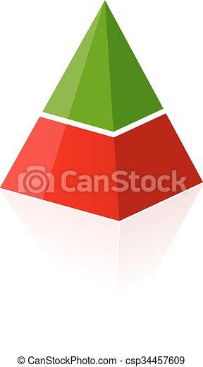 Two parts layered pyramid - csp34457609