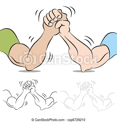 Two People Arm Wrestling - csp6729210