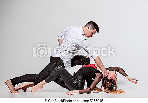 Two people dancing - csp45968015