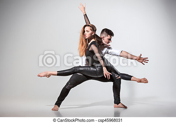 Two people dancing - csp45968031