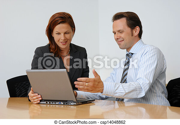 Two People Having A Business Meeting - csp14048862